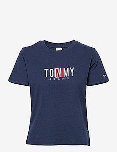 TJW REGULAR TIMELESS BOX TEE - t-shirts - twilight navy