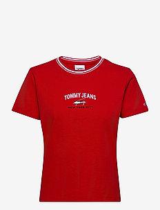 TJW REGULAR TIMELESS SCRIPT TEE - t-shirts - deep crimson