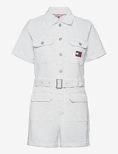 TJW SHORT BOILERSUIT - kläder - white