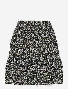 TJW SMOCKED WAIST FLORAL SKIRT - korta kjolar - floral print