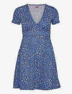 TJW FIT FLARE LEO PRINT DRESS - sommarklänningar - abstract leopard print