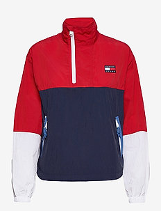 TJW COLORBLOCK POPOVER - anoraker - deep crimson / multi