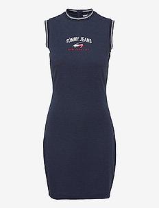 TJW TIMELESS SCRIPT DRESS - sommarklänningar - twilight navy