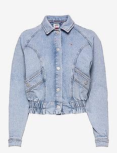 CARGO CROP JACKET TJLLBC - jeansjackor - tj leon lb com
