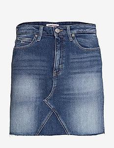 SHORT DENIM SKIRT AMBC - jeanskjolar - ames mb com