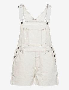 OVERSIZE DUNGAREE SHORT SSPWR - kläder - save sp white rgd