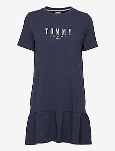 TJW LOGO PEPLUM DRESS - zomerjurken - twilight navy
