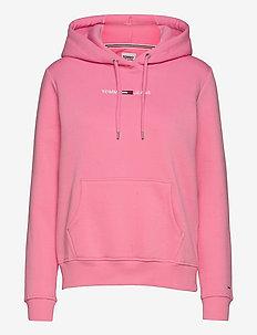 TJW LINEAR LOGO HOODIE - sweatshirts & hoodies - pink daisy