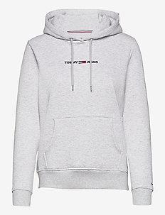 TJW LINEAR LOGO HOODIE - sweatshirts & hoodies - silver grey htr