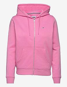 TJW REGULAR HOODIE ZIP THROUGH - sweatshirts & hoodies - pink daisy