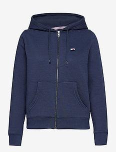 TJW REGULAR HOODIE ZIP THROUGH - sweatshirts & hoodies - twilight navy