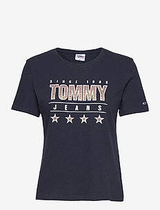 TJW  SLIM METALLIC TOMMY TEE - t-shirt & tops - twilight navy