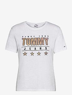 TJW  SLIM METALLIC TOMMY TEE - t-shirts - white
