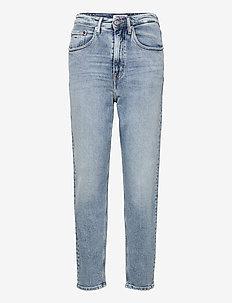 MOM JEAN UHR TPR AE611 LBC - tapered jeans - denim light