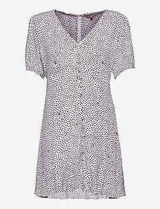 TJW PRINTED BUTTON THRU DRESS - sommarklänningar - dot print