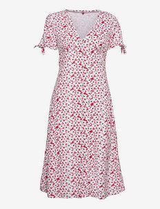 TJW PRINTED BUTTON MIDI DRESS - sukienki na codzień - camo floral print