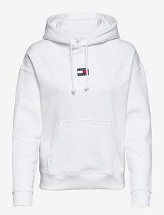 TJW TOMMY CENTER BADGE HOODIE - sweatshirts et sweats à capuche - white