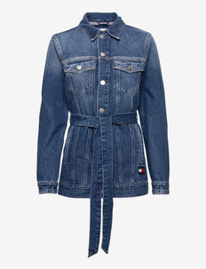 LONG BELTED TRUCK JK AE736 SMBR - vestes en jean - denim medium