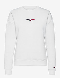 TJW LINEAR CREW NECK - sweatshirts - white