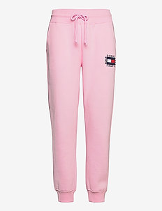 TJW SLIM BOX FLAG SWEAT PANT - sweatpants - romantic pink