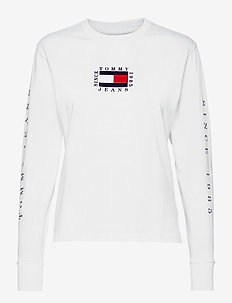 TJW TOMMY BOX FLAG LONGSLEEVE - long-sleeved tops - white
