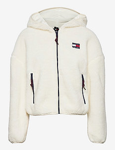 TJW SHERPA HOODED JACKET - sweatshirts en hoodies - snow white