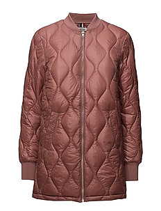THDW QUILTED LONG BOMBER 23 - WITHERED ROSE