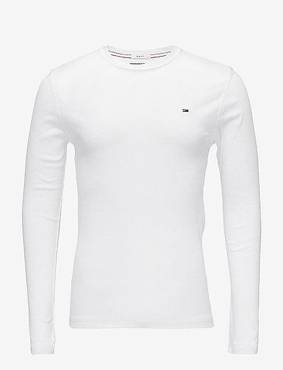 TJM ORIGINAL RIB LONGSLEEVE TEE - basic t-shirts - classic white