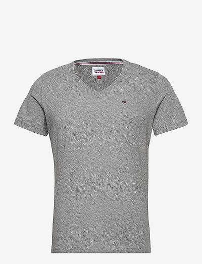 TJM ORIGINAL JERSEY V NECK TEE - basic t-shirts - lt grey htr