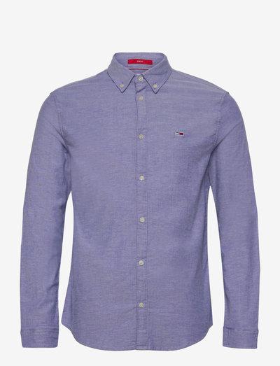 TJM STRETCH OXFORD SHIRT - linneskjortor - court blue