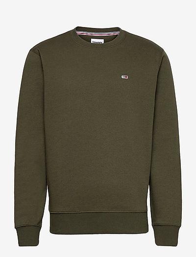 TJM REGULAR FLEECE C NECK - kläder - dark olive