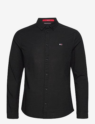 TJM SLIM STRETCH OXF - rutiga skjortor - black