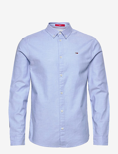 TJM SLIM STRETCH OXFORD SHIRT - linneskjortor - perfume blue