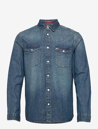 TJM WESTERN DENIM SHIRT - basic skjortor - mid indigo