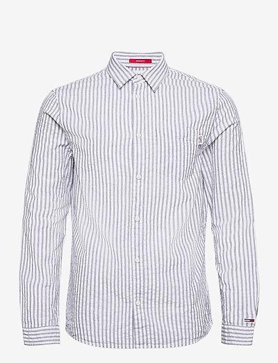 TJM SEERSUCKER STRIPED SHIRT - checkered shirts - twilight navy / white