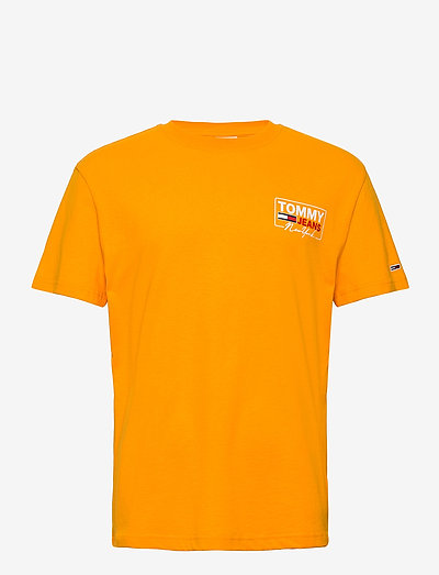 TJM NY SCRIPT BOX BACK LOGO TEE - t-shirts - florida orange