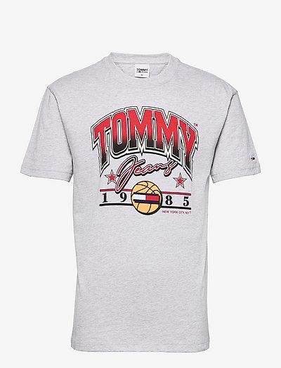 TJM VARSITY BBALL GRAPHIC TEE - short-sleeved t-shirts - silver grey htr