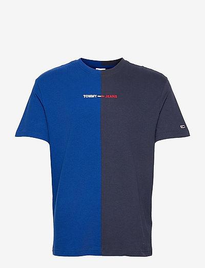 TJM HALF N HALF LINEAR LOGO TEE - t-shirts à manches courtes - cobalt / twilight navy