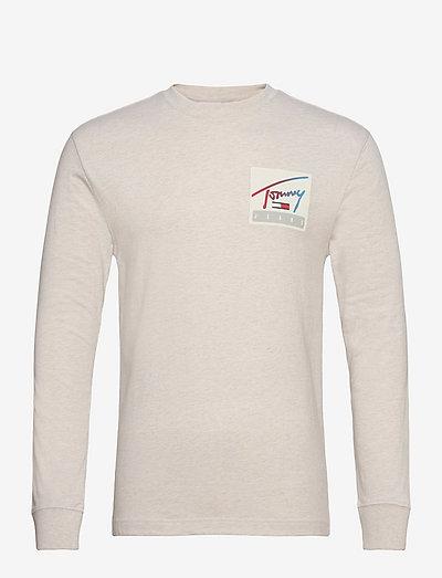 TJM TOMMY BASKETBALL LONGSLEEVE - t-shirts - white