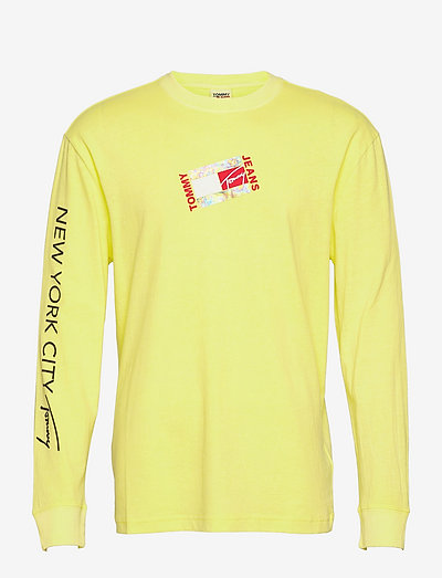 TJM SMALL FLAG BOX LOGO TEE - t-shirts à manches longues - faded lime
