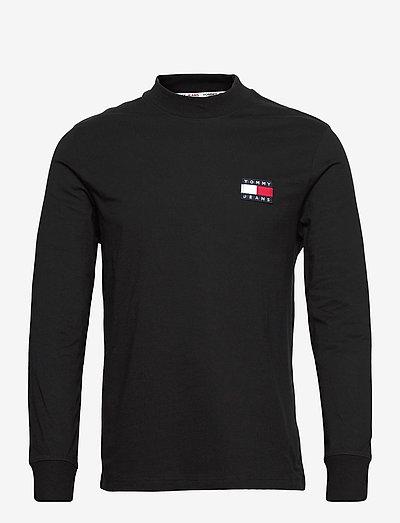 TJM BADGE MOCK NECK LONGSLEEVE - t-shirts basiques - black