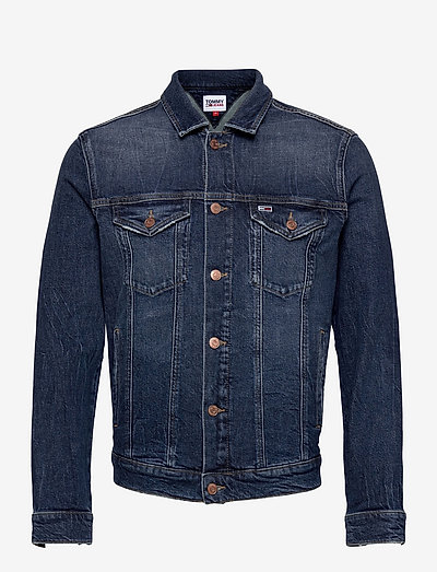 REGULAR TRUCKER JACKET AE259 DBC - jeansjackor - denim dark