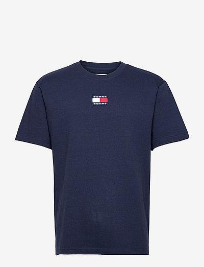 TJM TOMMY BADGE TEE - kortärmade t-shirts - twilight navy