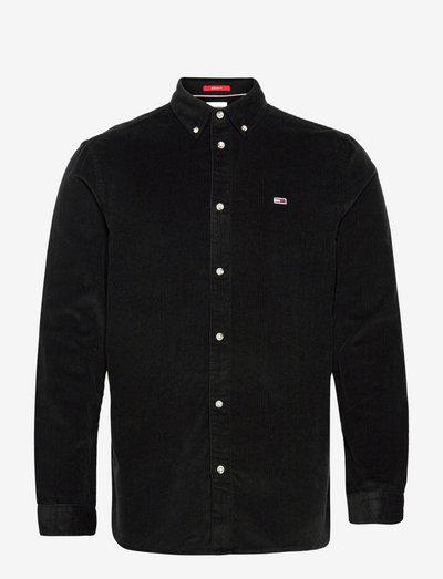 TJM REGULAR CORD SHIRT - linnen overhemden - black