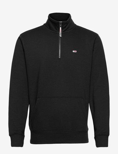 TJM SOLID ZIP MOCK NECK - mid layer jackets - black