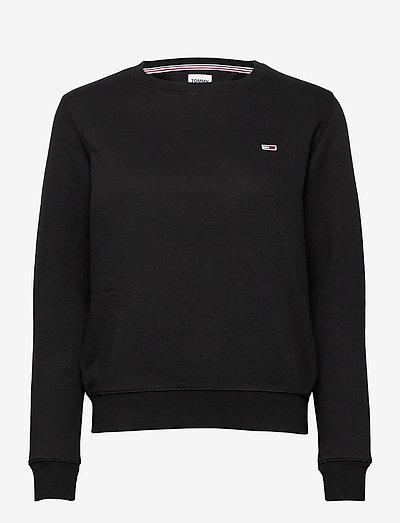 TJW REGULAR FLEECE C NECK - sweatshirts & hoodies - black