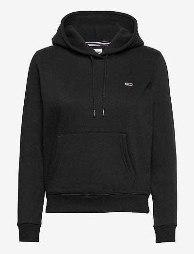 TJW REGULAR FLEECE HOODIE - sweatshirts & hoodies - black