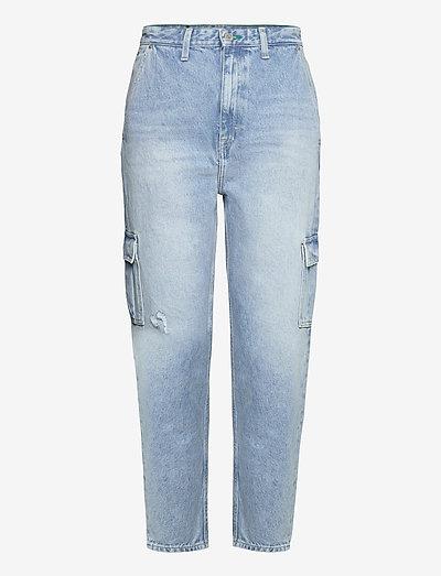 MOM JEAN CARGO SVLBR - mom jeans - save ps lb rig dest