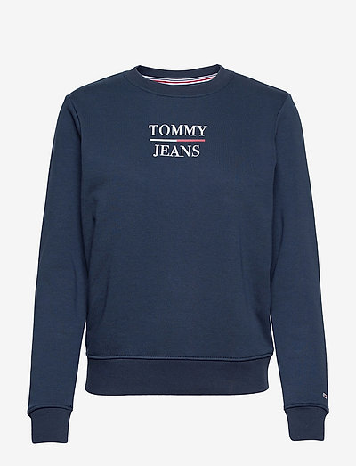 TJW SLIM TERRY LOGO SWEATSHIRT - sweatshirts & hoodies - twilight navy