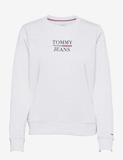 TJW SLIM TERRY LOGO SWEATSHIRT - sweatshirts & hoodies - white